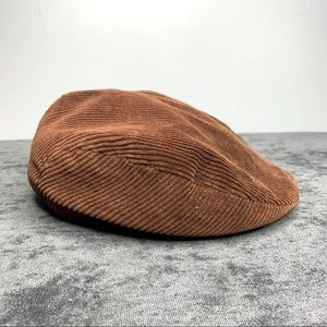 European Corduroy Flat Cap Brown